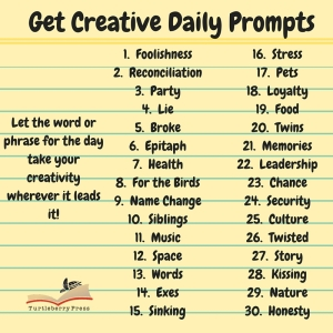 April 2016 Writing Prompts